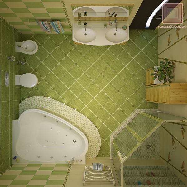 Дизайн ванных комнат 9 кв. м